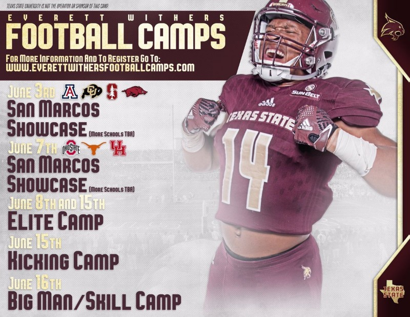 Everett WIthers/Texas State Football Camp