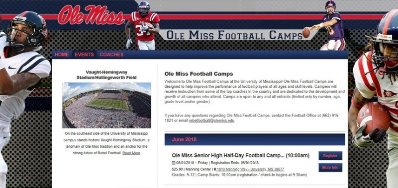 Ole Miss Football Camp